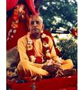 Srila Prabhupada at New Vrindaban, On Red Vyasasana
