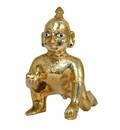"Laddu Gopal Brass Deity 4"" (10 cm)"