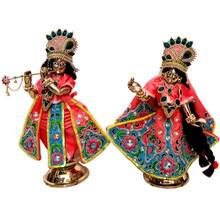 Radha Krishna Deluxe Dress Flower