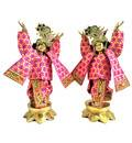 Gaura Nitai Deity Clothes -- Gradient Flowers Design