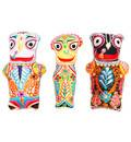Childrens Stuffed Toy: Jagannatha, Baladeva and Lady Subhadra Dolls with Embroidery