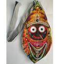 Jagannatha Digitally Printed Bead Bag with Embroidery