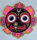 Large Jagannatha with Pink Lotus Magnet
