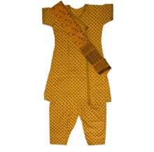 Punjabi Suit, 3-piece (Top, Pants, Chadar)