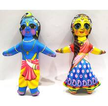 Radha-Krishna Dolls -- Childrens Stuffed Toy