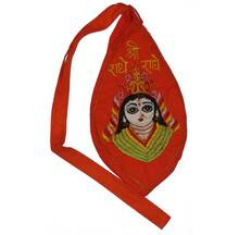 Jay Radha Picture Japa Bead Bag (Embroidered)