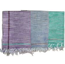 Gamcha, Khadi, large size (200x100 cm) -- Traditional Indian Bathing Towel