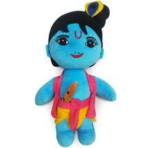 "Childrens Stuffed Toy: Lord Krishna Doll - 14"" Inches"