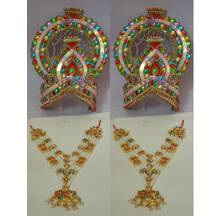 """Large Crown and Necklace Set -- Type 2 -- For 20\""""-30\"""" Deities (pair)"""