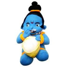 Childrens Stuffed Toy: Little Krishna Eating Butter
