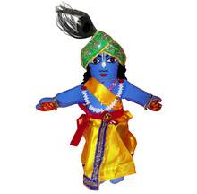 "Childrens Stuffed Toy: Lord Krishna Doll - 18"" Inches"