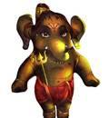 Digital printed Lord Ganesha doll