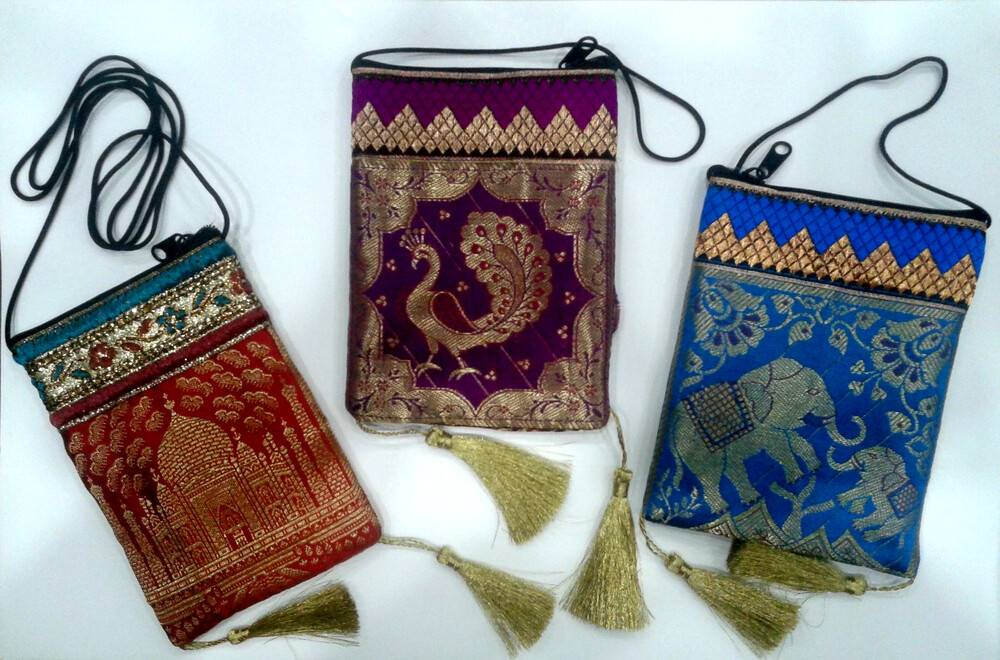 bfba1d4d9233 Zip Bag With Traditional Indian Designs (3.9