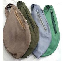 Japa Bead Bag -- Plain with Two Zip Pockets